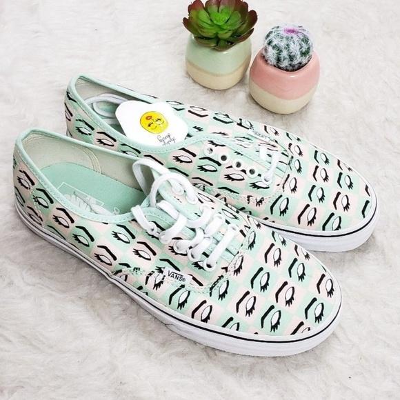 a171fe59052 Vans x Kendra Dandy Mod Eye White Canvas Sneakers